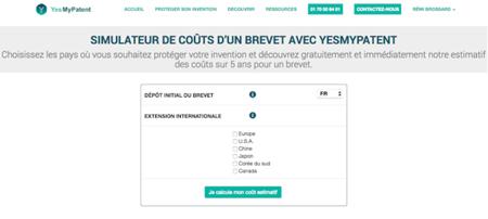 Yesmypatent Lance Un Simulateur De Cout D Un Brevet